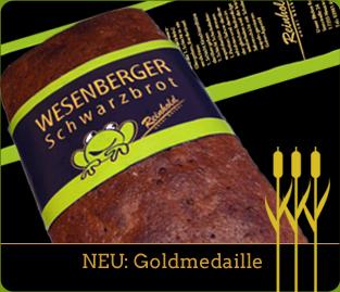 Gold für Wesenberger Schwarzbrot